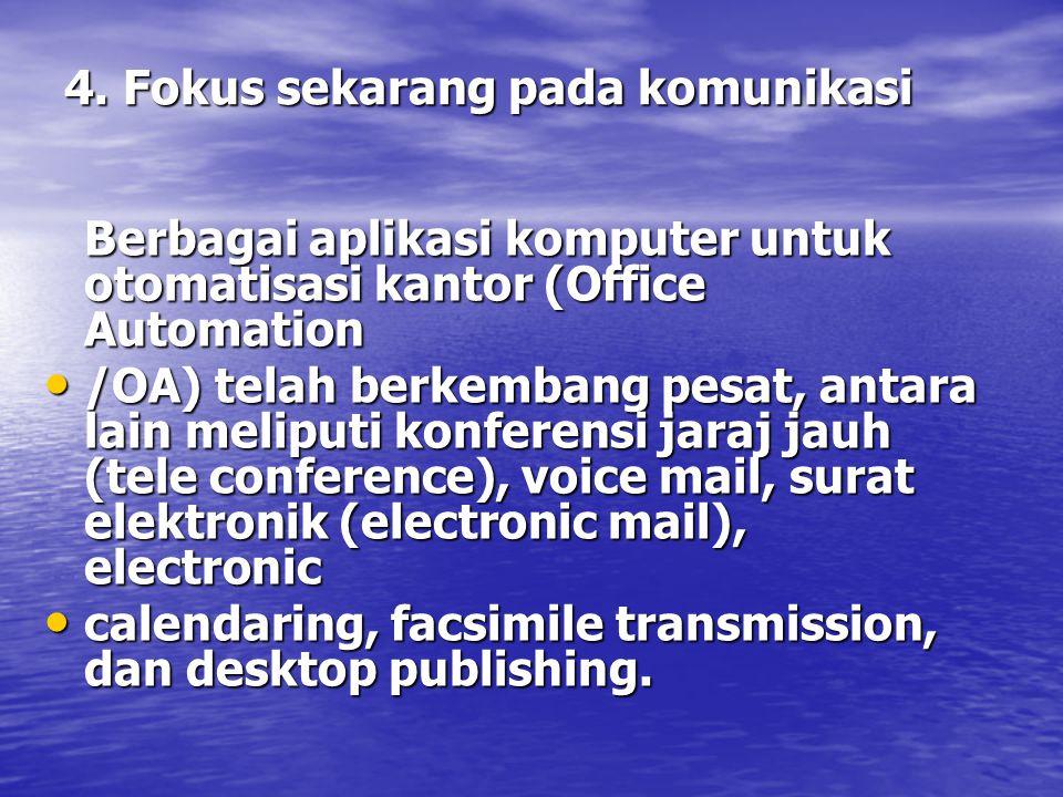 4. Fokus sekarang pada komunikasi