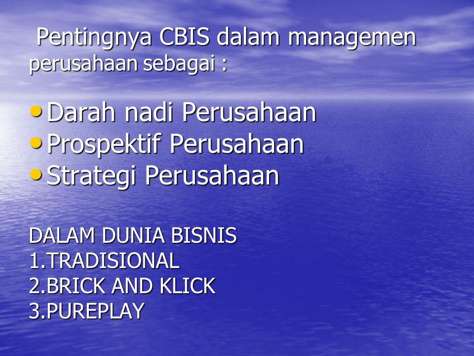 Pentingnya CBIS dalam managemen perusahaan sebagai :