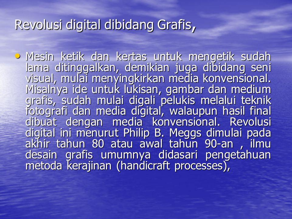 Revolusi digital dibidang Grafis,