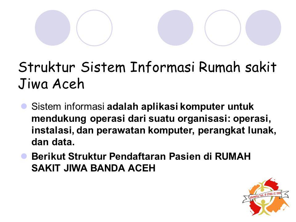 Struktur Sistem Informasi Rumah sakit Jiwa Aceh