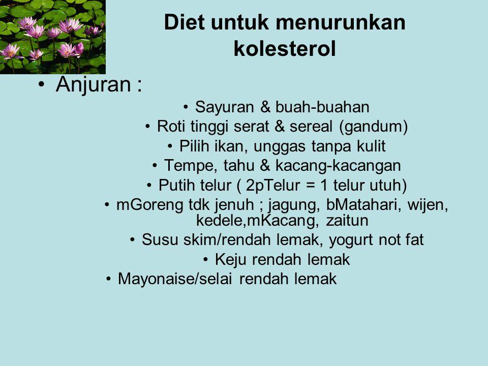 Diet untuk menurunkan kolesterol