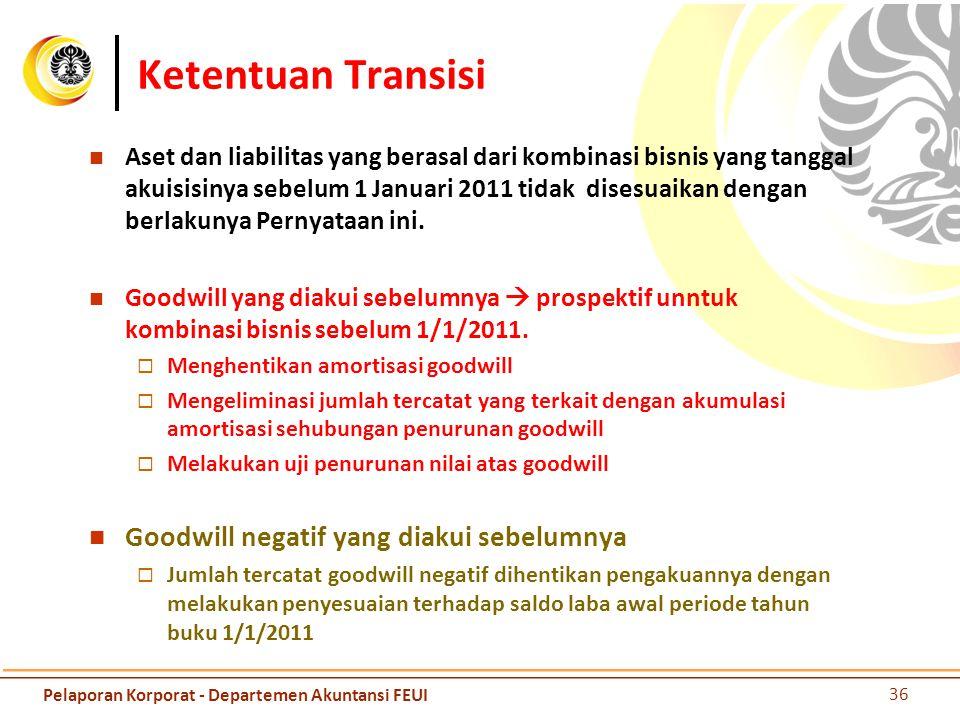 Ketentuan Transisi Goodwill negatif yang diakui sebelumnya