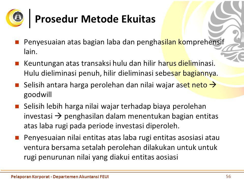 Prosedur Metode Ekuitas