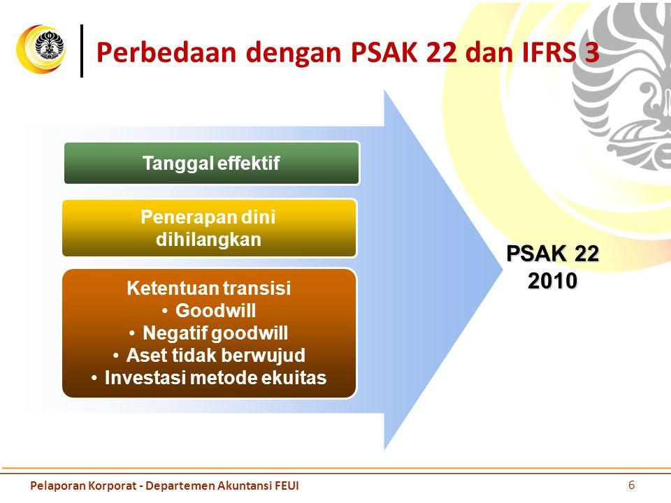 Perbedaan dengan PSAK 22 dan IFRS 3