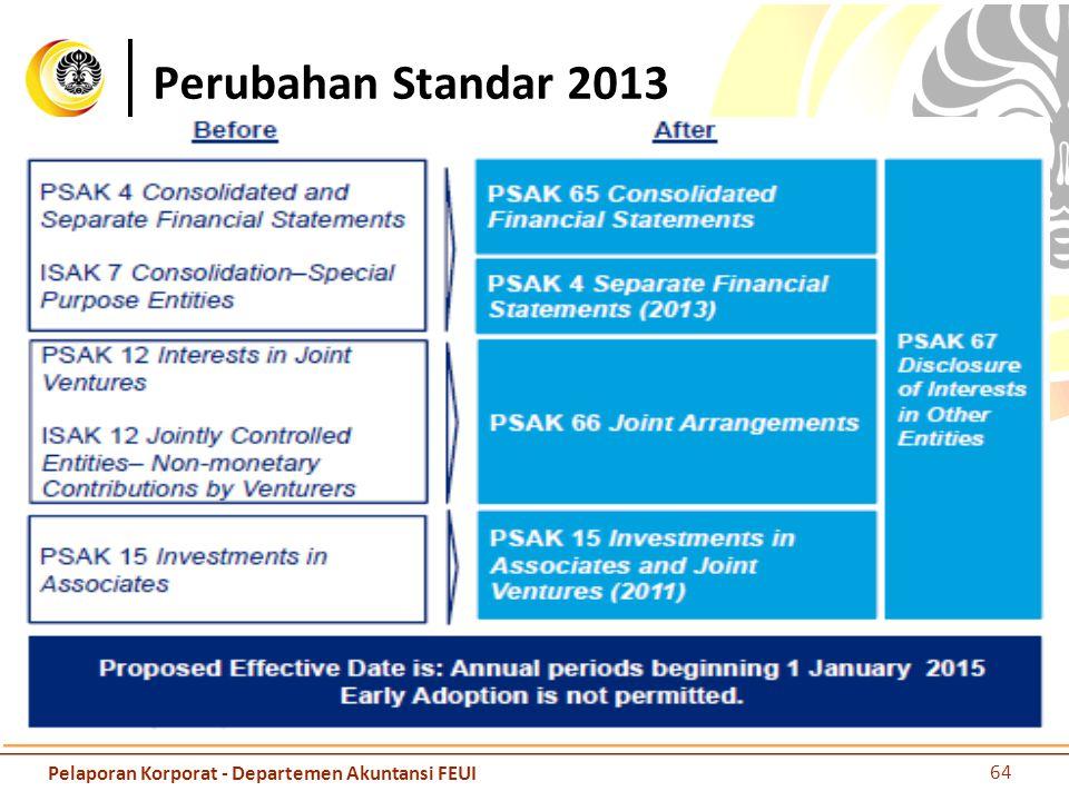 Perubahan Standar 2013 Pelaporan Korporat - Departemen Akuntansi FEUI