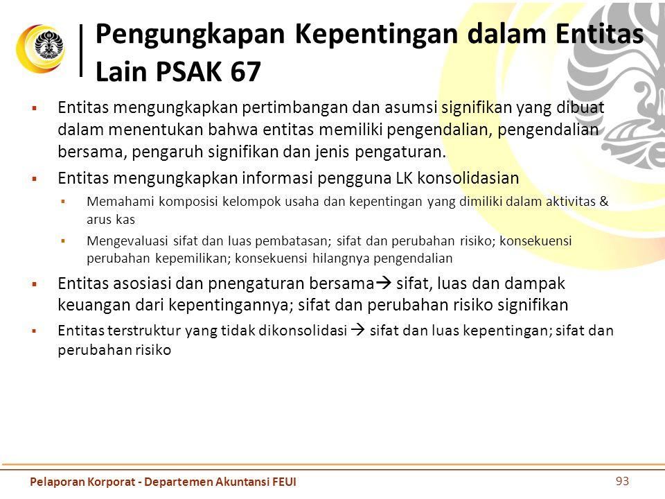 Pengungkapan Kepentingan dalam Entitas Lain PSAK 67