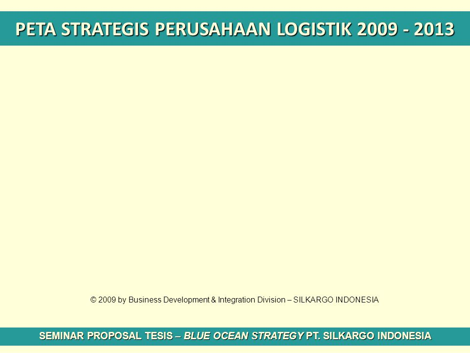 PETA STRATEGIS PERUSAHAAN LOGISTIK 2009 - 2013