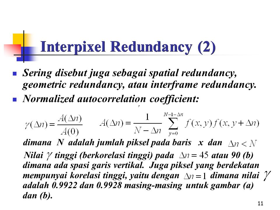 Interpixel Redundancy (2)