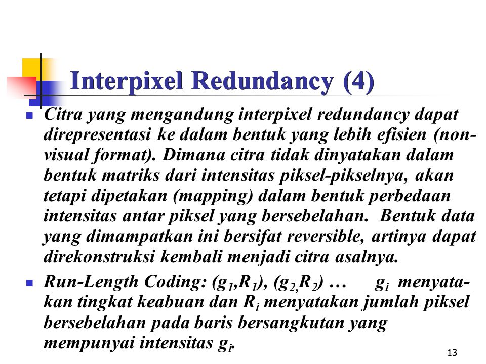 Interpixel Redundancy (4)