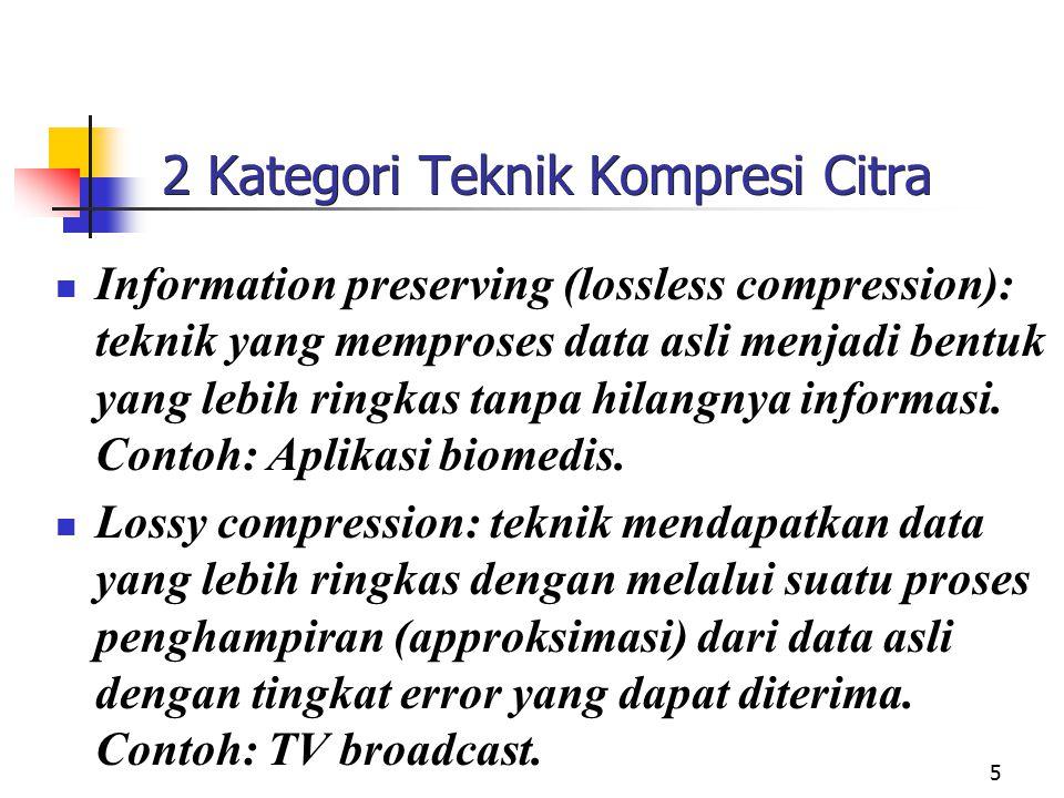 2 Kategori Teknik Kompresi Citra