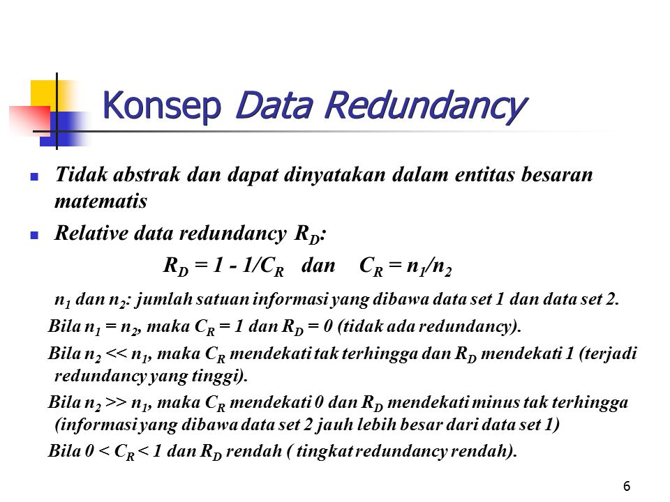 Konsep Data Redundancy