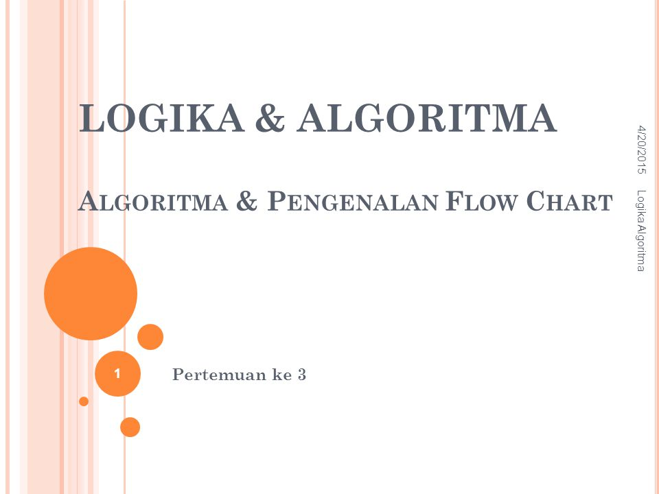 LOGIKA & ALGORITMA Algoritma & Pengenalan Flow Chart