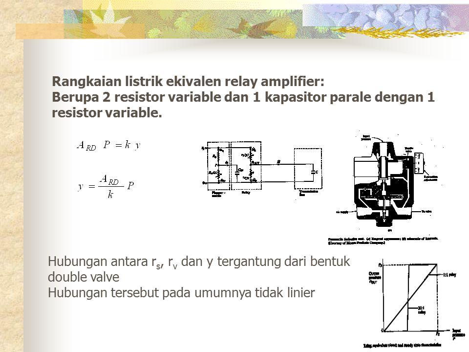 Rangkaian listrik ekivalen relay amplifier: