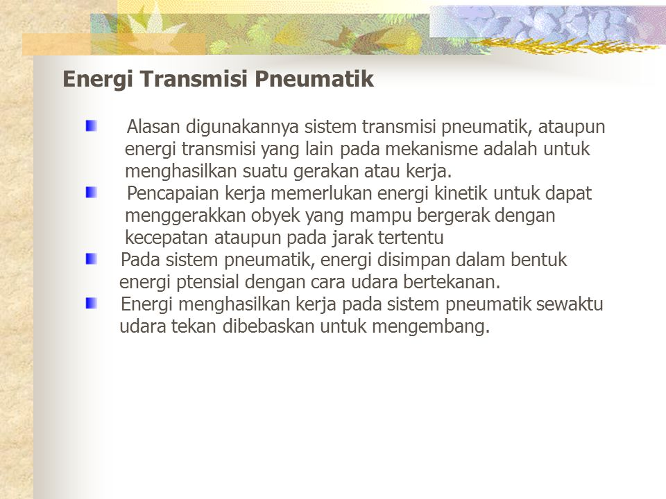 Energi Transmisi Pneumatik