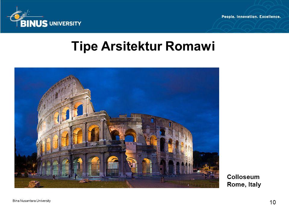 Tipe Arsitektur Romawi