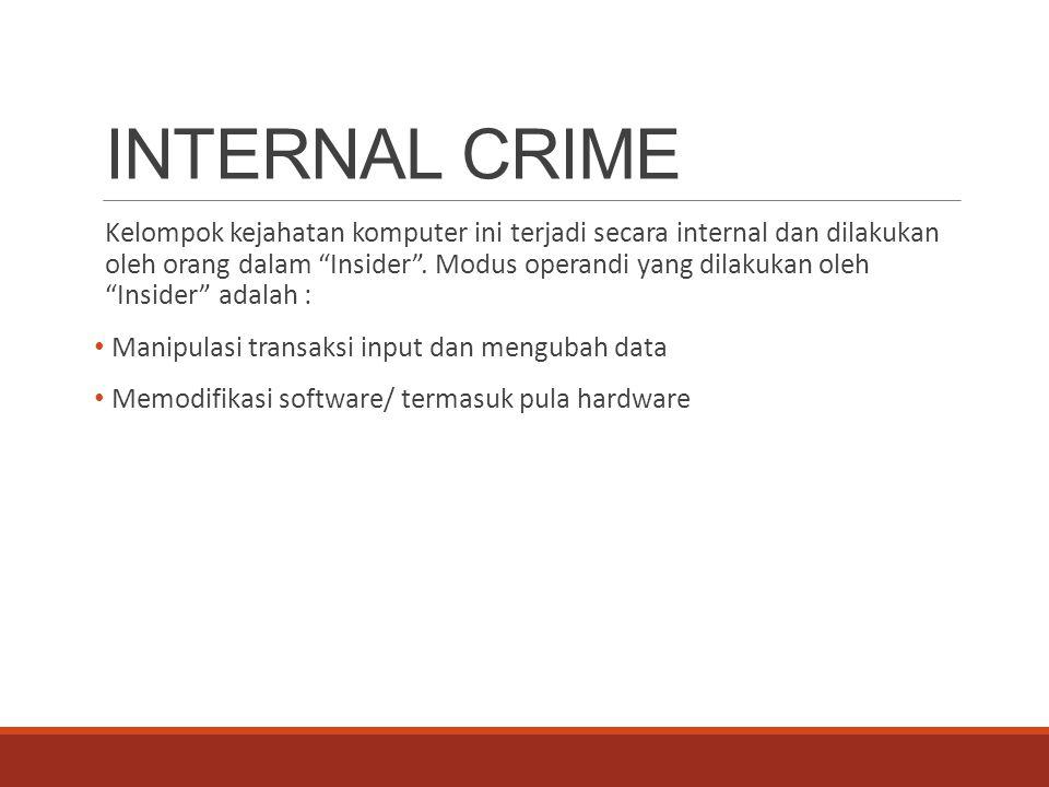 INTERNAL CRIME