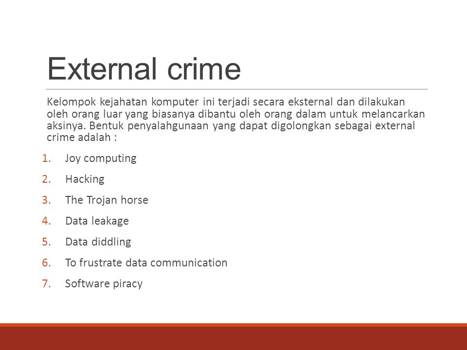 External crime