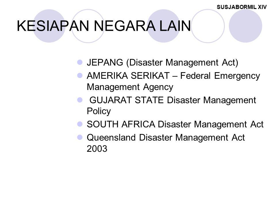KESIAPAN NEGARA LAIN JEPANG (Disaster Management Act)