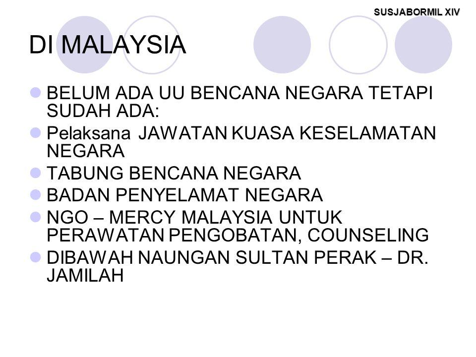 DI MALAYSIA BELUM ADA UU BENCANA NEGARA TETAPI SUDAH ADA: