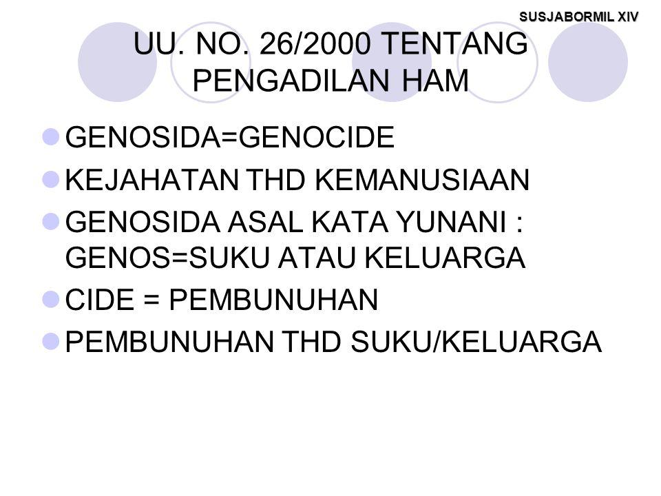 UU. NO. 26/2000 TENTANG PENGADILAN HAM