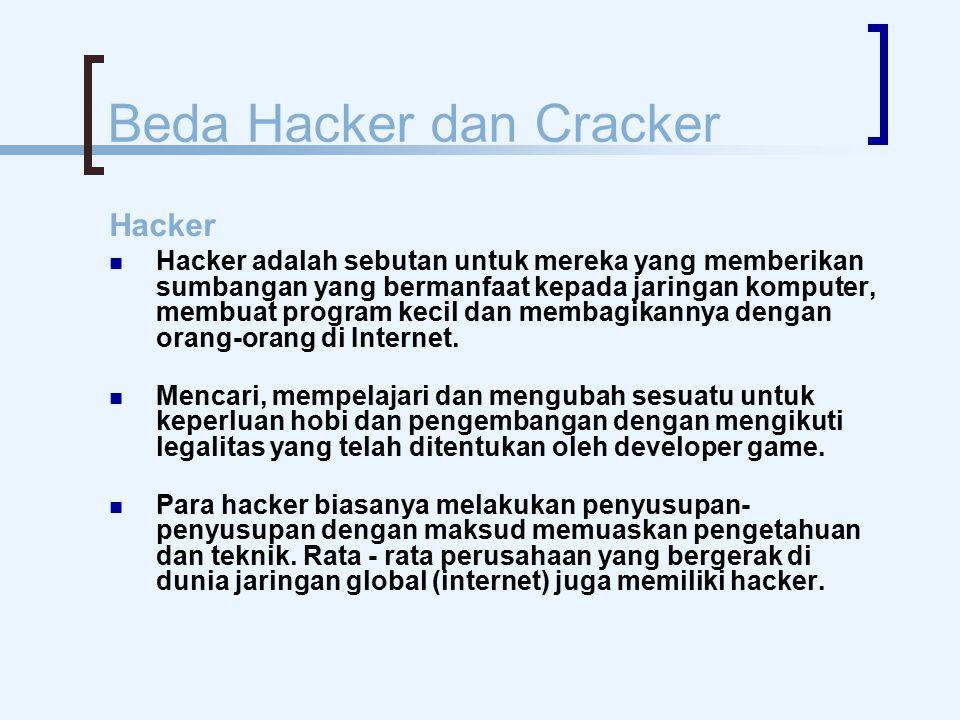 Beda Hacker dan Cracker