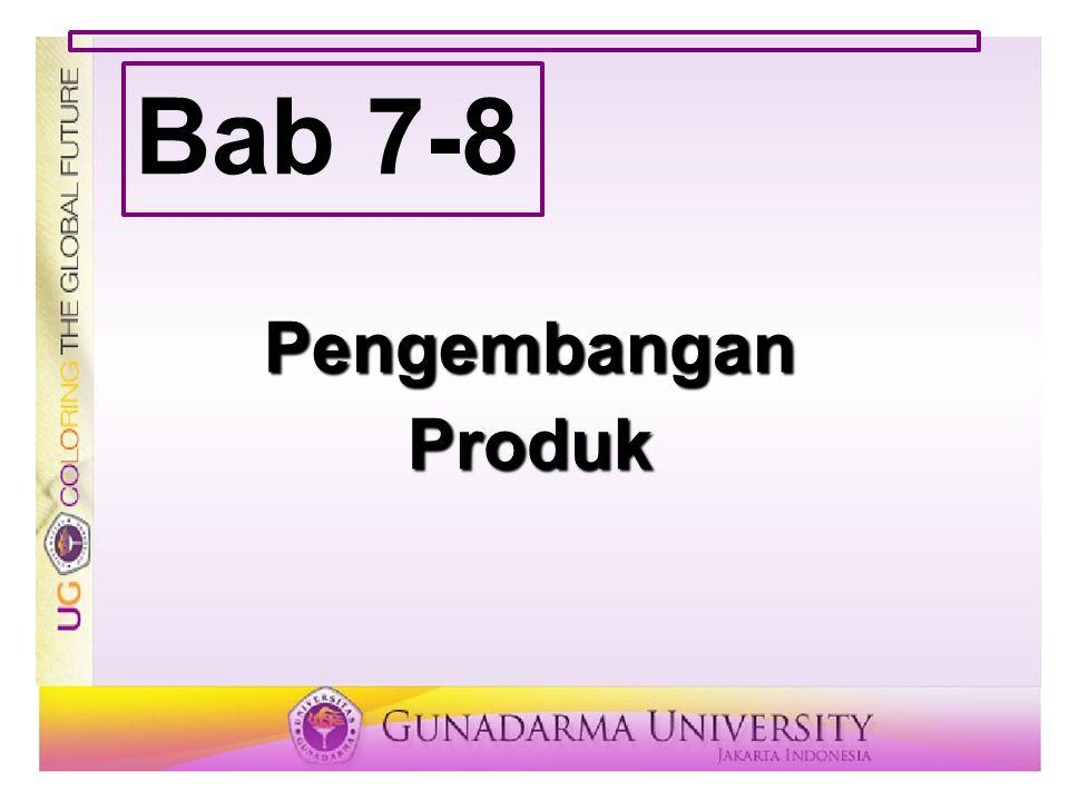 Bab 7-8 Pengembangan Produk