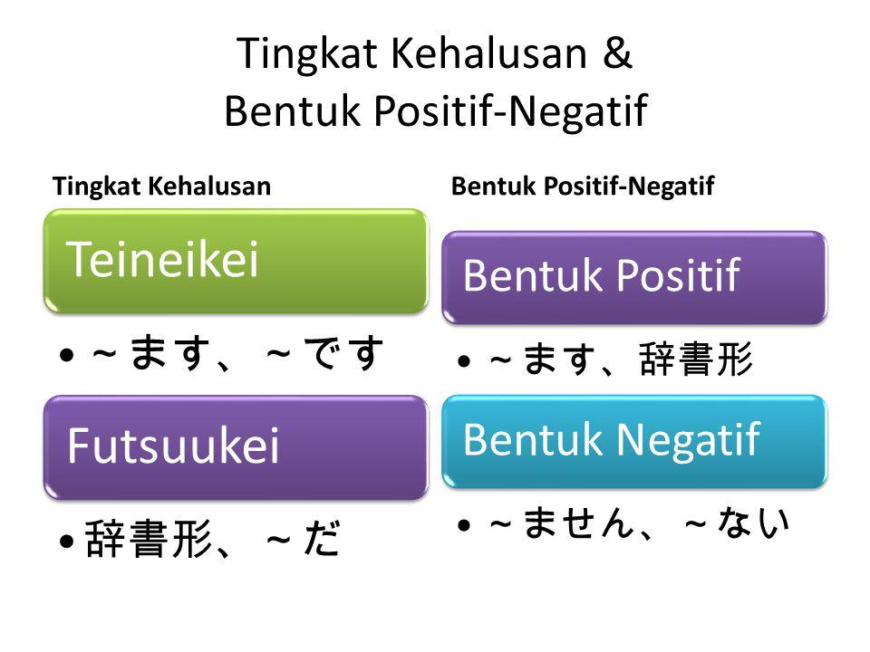 Tingkat Kehalusan & Bentuk Positif-Negatif