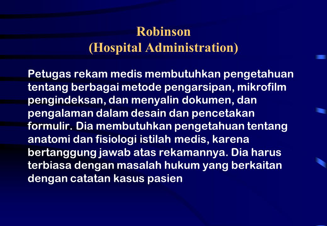 Robinson (Hospital Administration)