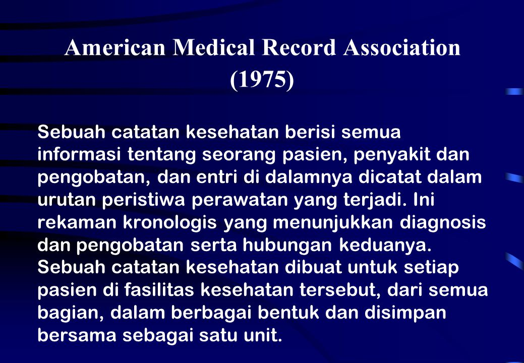 American Medical Record Association (1975)