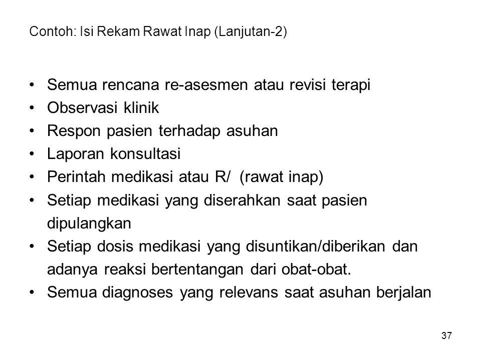 Contoh: Isi Rekam Rawat Inap (Lanjutan-2)
