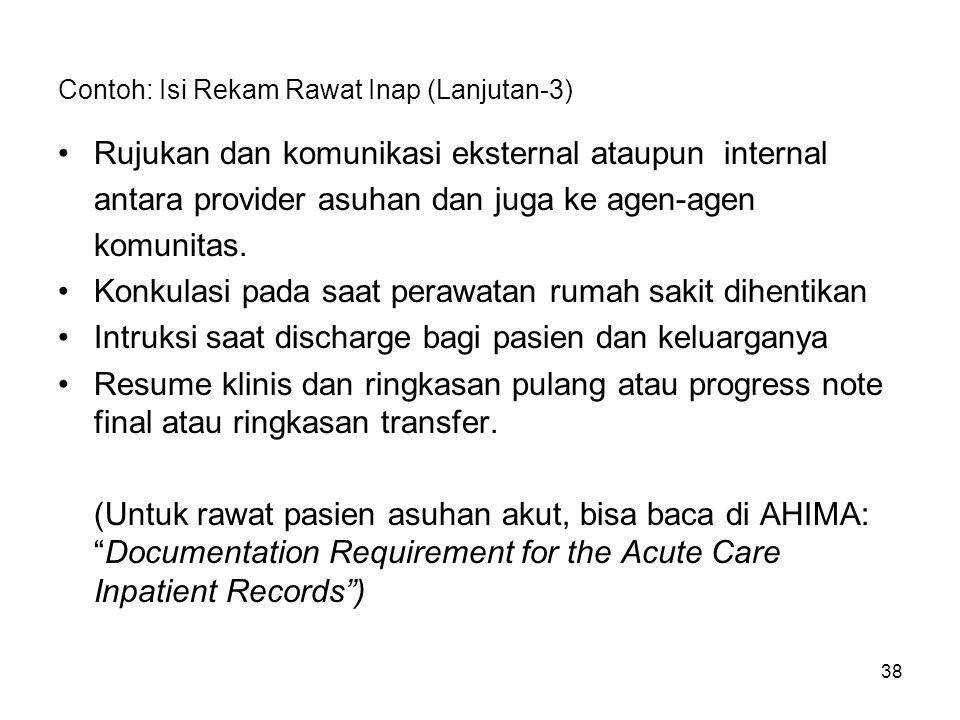 Contoh: Isi Rekam Rawat Inap (Lanjutan-3)