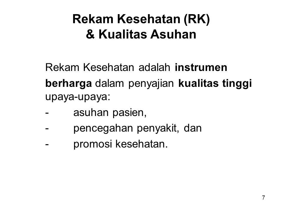 Rekam Kesehatan (RK) & Kualitas Asuhan