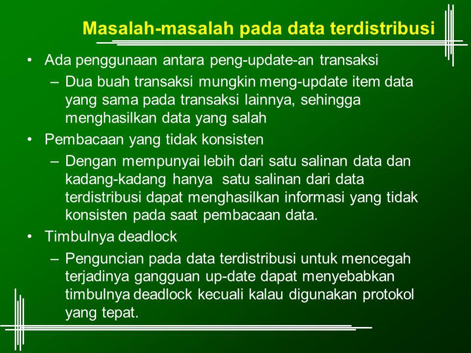 Masalah-masalah pada data terdistribusi