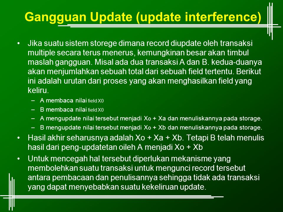 Gangguan Update (update interference)