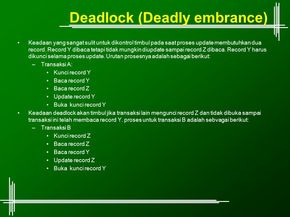 Deadlock (Deadly embrance)