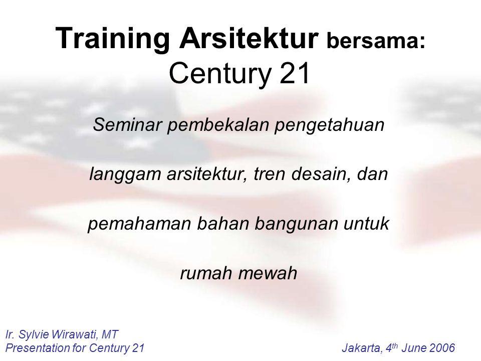 Training Arsitektur bersama: Century 21