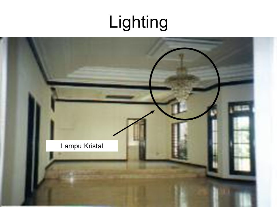Lighting Lampu Kristal Ir. Sylvie Wirawati, MT