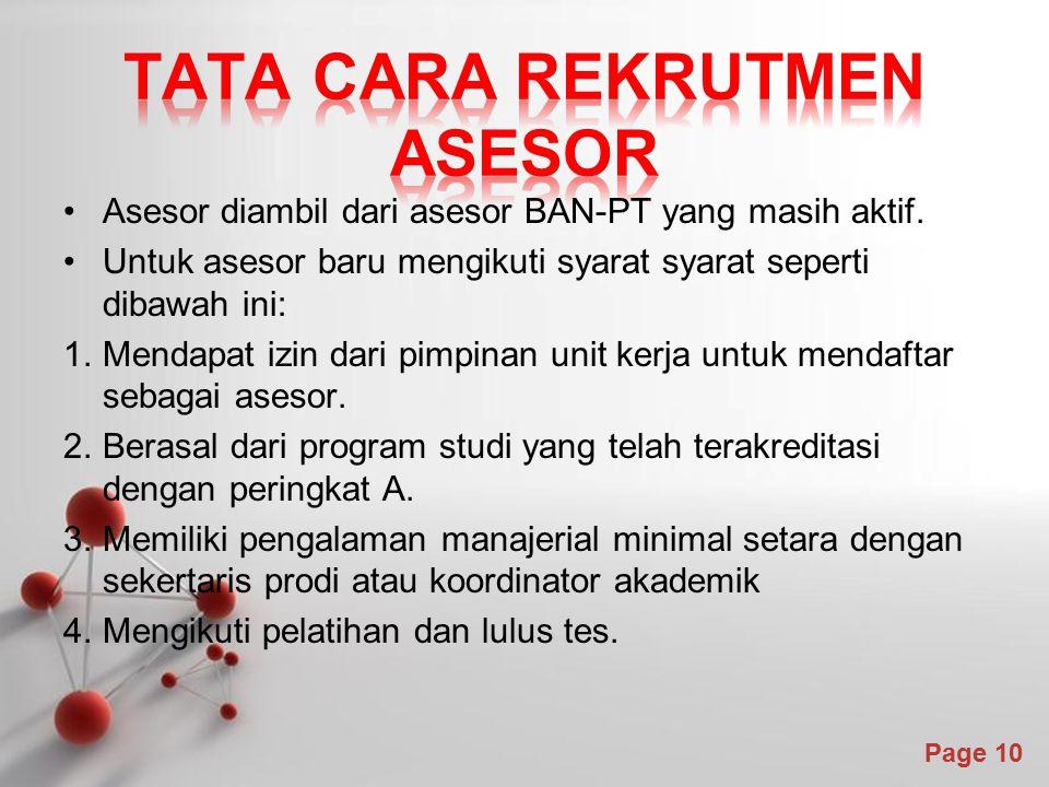 Tata cara rekrutmen asesor