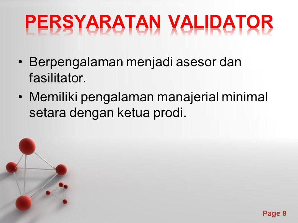 Persyaratan validator