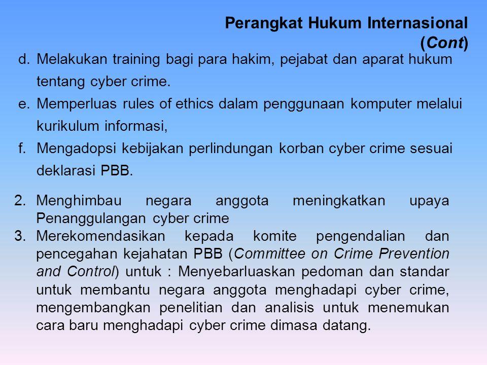 Perangkat Hukum Internasional (Cont)