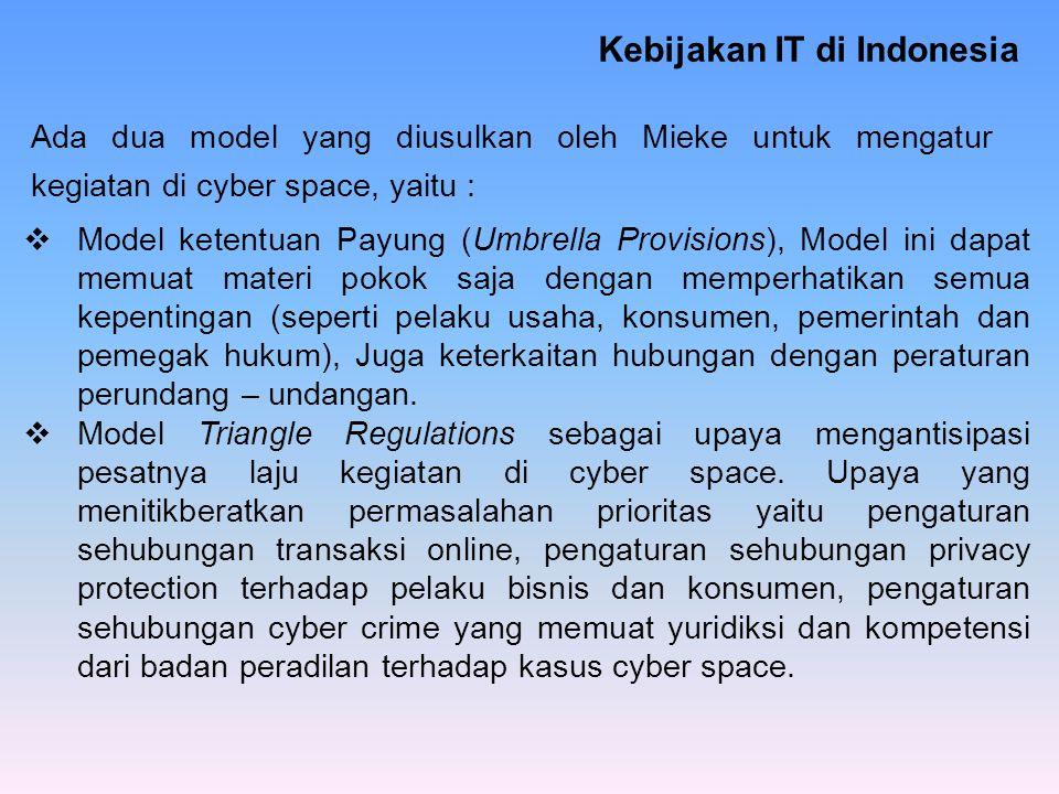 Kebijakan IT di Indonesia