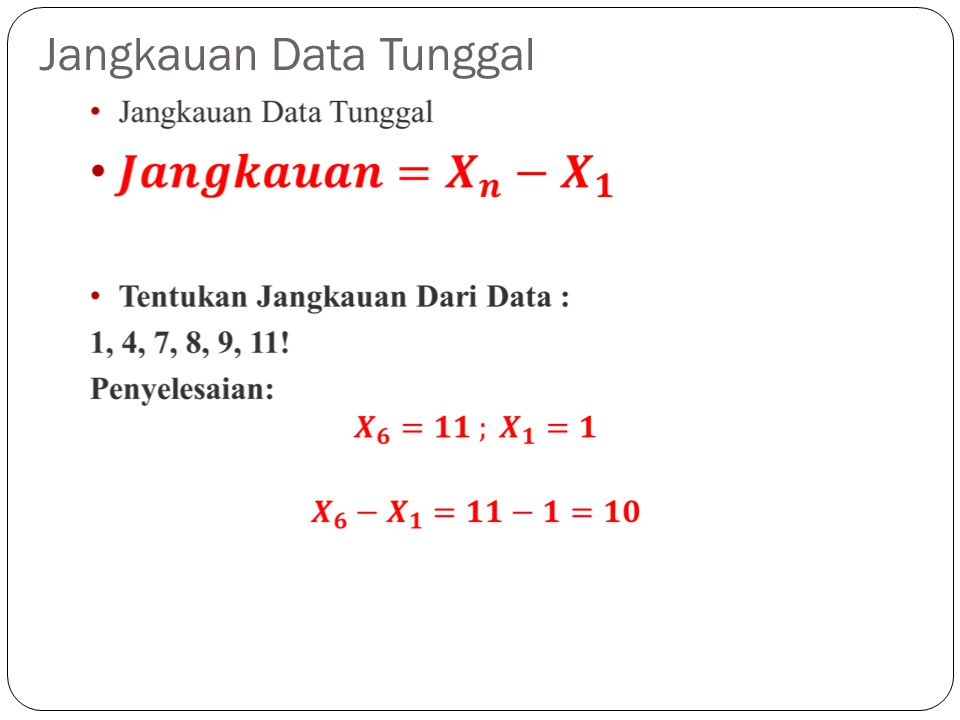 Jangkauan Data Tunggal