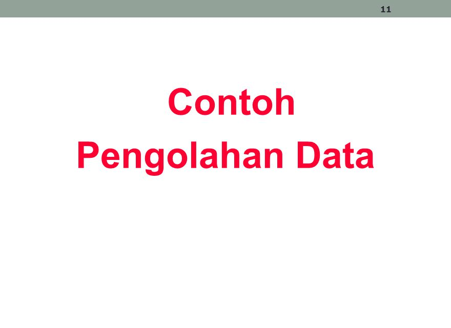 Contoh Pengolahan Data