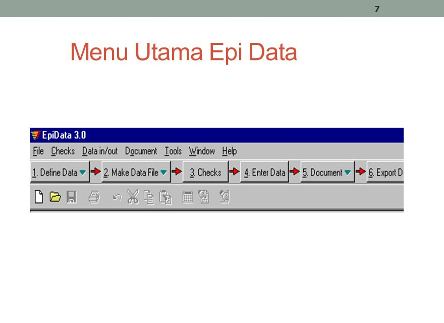 Menu Utama Epi Data