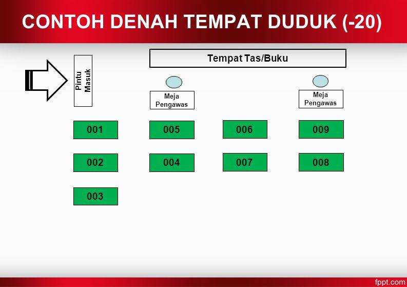 CONTOH DENAH TEMPAT DUDUK (-20)