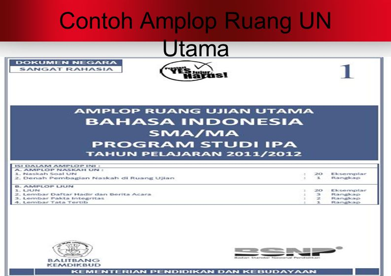 Contoh Amplop Ruang UN Utama