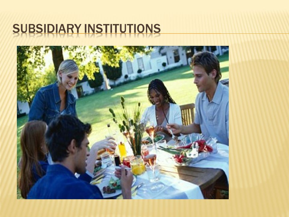 Subsidiary Institutions