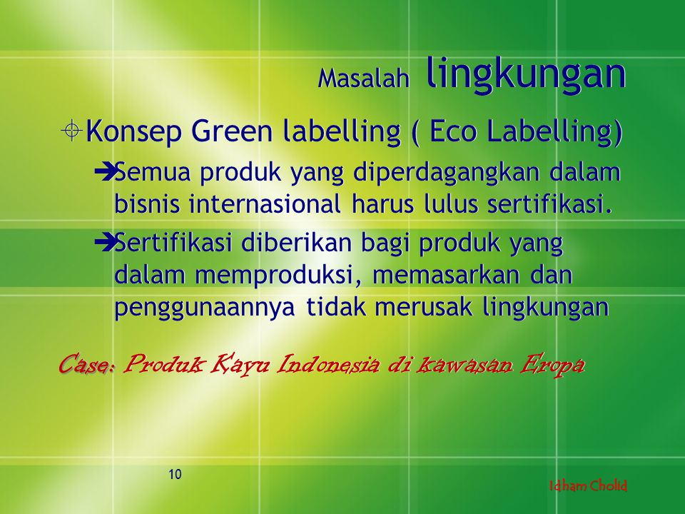 Konsep Green labelling ( Eco Labelling)