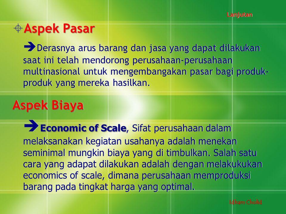 Lanjutan Aspek Pasar.