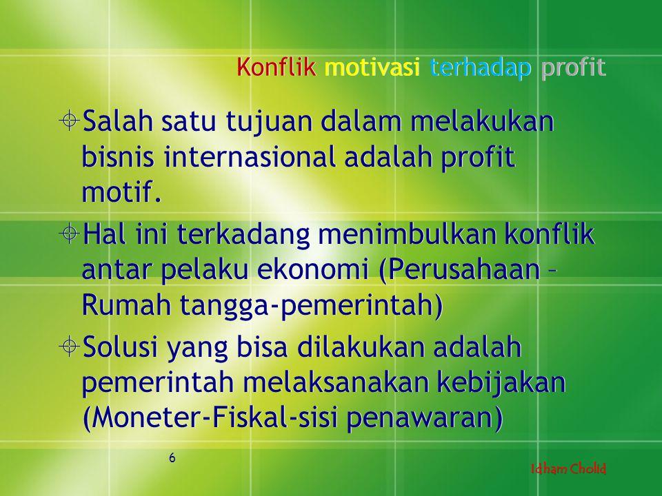 Konflik motivasi terhadap profit